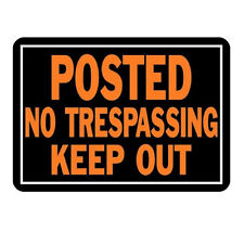 HY-KO Products 813 No Trespassing/ Keep Out Sign *