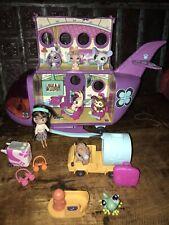 LOT N 88 PETSHOP Pet Shop : Avion Violet + 1 + 8 Figurines Et Accessoires TBE