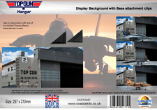 Coastal Kits 1:72 Top Gun Hangar Background with attachment clips
