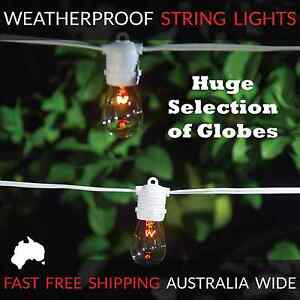 10m White Festoon String Lights | Huge Selection of Globe Types | Outdoor Party