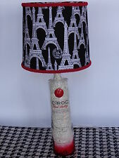 Folk Art/By the Artist Table/Desk Lamp (Eiffel Tower Shade)