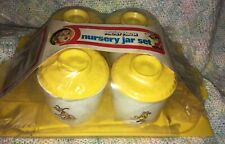 Vintage Mickey Mouse Nursery Jar Set Walt Disney Production Rare!