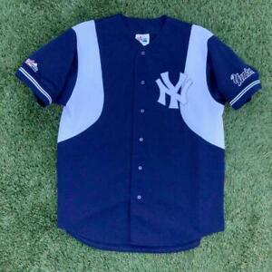 USA Made VTG 90s Majestic New York Yankees Two-Tone Alternate Baseball Jersey XL
