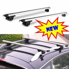 125CM UNIVERSAL LOCKABLE ANTI THEFT CAR ROOF BAR FOR CAR WITH RAILS LOCKING ROOF