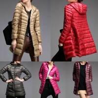 Womens Super Light 90% White Duck Down Coat Jacket Warm Ultra-light Slender Hood