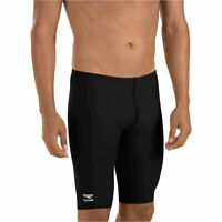 Speedo Boys' Jammer Swimsuit - Endurance- Polyester Solid, Speedo Black, Size 22