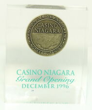 Casino Niagara Grand Opening Dec. 1996 Paperweight w/ Token