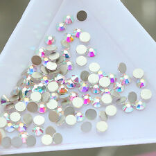 2880 PCS Crystal Clear AB Flatback Rhinestone Non Hotfix Nail Art Decoration DIY