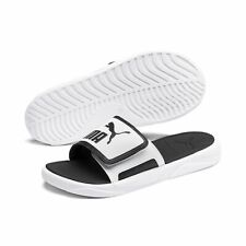 Puma Unisex Slides Beach Sandals Slippers Royalcat Comfort 372280 White Black