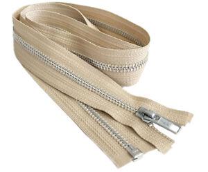 32 Inch YKK #5 Medium Weight Aluminum Metal Jacket Zipper Separating Made in USA
