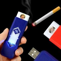 USB Electric Battery Rechargeable Flameless Cigar Cigarette Lighter Collectible