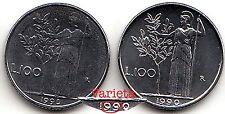 """VARIANTE COPPIA L. 100 LIRE 1990 FDC """"99"""" CHIUSE E APERTE da SET - GIGANTE € 50"""