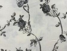 Mas D'Ouvan Alice Ivory Charcoal - Floral Block Print