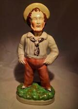 Large Staffordshire Flatback Sailor Figurine Jack Tar Figure Antique circa 1860