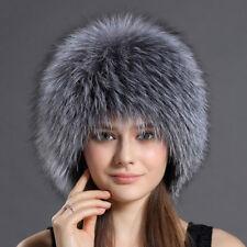 Knit Finn Silver Fox Fur Hat
