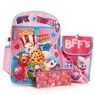 Shopkins Girls School Backpack 5 Piece Set Lunch bag Pencil Case Water Bottle
