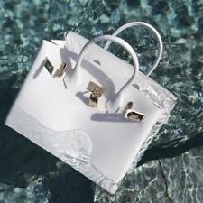 White & Gold Waterproof Beach Bag BLK Sheep BIKI 30cm Neige Blanc Original Vegan