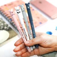 2Pcs 0.35mm Cute Animal Gel Pen Kawaii Bunny Blue Ink Maker Cartoon Stationery