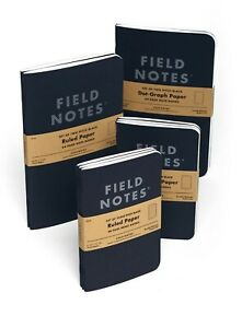 Field Notes Pitch Black Edition Dot Graph 2-Pack Note Books - Large