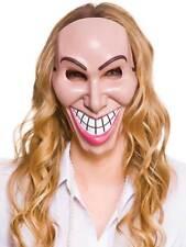 Freaky Robber Mask Fancy Dress Halloween Horror Evil Grin Smile The Purge Movie