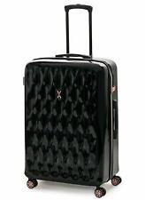 IT Luggage Momentum Metalik 8 Wheel Hard Expand 56cm Small Charcoal Black TSA