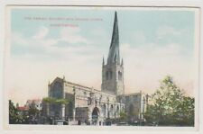 Derbyshire postcard - The Parish Church & Crooked Steeple, Chesterfield (A160)