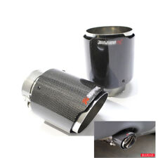 1pcs/Set 100% Real Carbon Fiber Exhaust Tips 63mm Inlet/114mm outlet Universal
