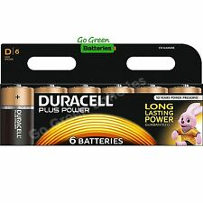 6 x Duracell D Size Plus Power Alkaline Batteries (LR20, MN1300, MX1300, Mono)