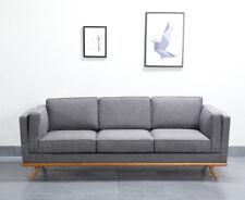 2018 New Design Scandinavian Style Grey 3 Seater Sofa Premium Quality Solid Wood