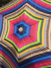 Totes Classic Stripes Automatic Open And Close Compact Umbrella Medium Size NWT