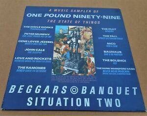 Various Artists: Beggars Banquet Sampler LP Bauhaus Cult  Fall  Ramones Bolshoi