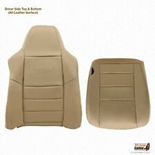 2002 To 2007 Ford F250 F350 Lariat Driver Bottom & Top Leather Seat Cover Tan