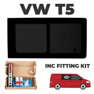 T5 T6 Transporter Driver Side Tinted Sliding Privacy Window WITH FITTING KIT