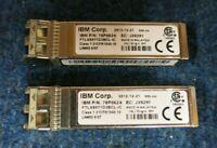 2 x IBM 78P0624 10GB/S 850NM 10GBASE SE-SR SFP+ Ortical Transceiver Module