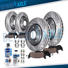 Front & Rear Drilled Rotors + Brake Pads for 2005 - 2018 Dodge Charger Magnum