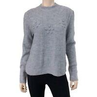 Lauren Conrad Women's Gray Metallic Mock Neck Long Sleeve Sweater Size M NWT