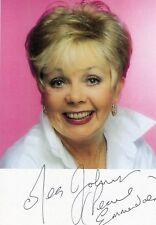 Meg Johnson Signed Emmerdale Pearl Ladderbanks Photo / Postcard AFTAL