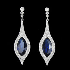 Crystal White Gold Plated Cubic Zirconia Fashion Earrings