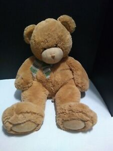 "First & Main Super Soft ""Dean"" Brown Teddy Bear 15"" Plush #1797 Bow"