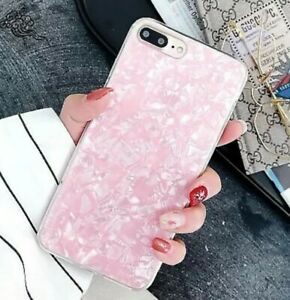 For Apple IPhone 6 6s 7 8 Glossy Marble Shockproof Soft Silicone Case Cover