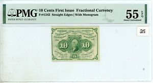 FR-1242  First Issue 10c Cent Fractional Postage Currency *PMG 55 About Unc* 25