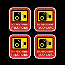 4x In Car Camera Recording Sticker - 45x50mm - Decal, Dashcam, Video, Warning
