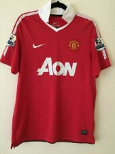 Manchester United Authentic Nike Kit Soccer Jersey Polo Red Medium