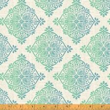 Quilting Fabric - Mariposa Teal and Blue Pattern - Windham Fabrics - Per Yard