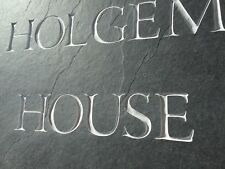 Natural surface Slate House sign 300mm x 200mm  ANY NAME / NUMBER!!
