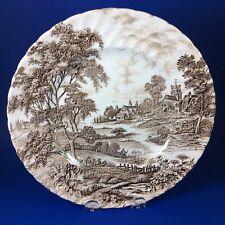 "Ridgway Staffordshire Meadowsweet Brown Ironstone 9.75"" Dinner Plate"