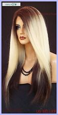 Lace Front Wig LONG STRAIGHT HEAT SAFE COLOR ✯3T4.613 ✯ SEXY FAST USA SELLER 498