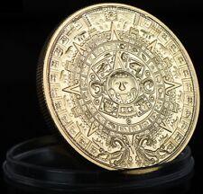 MAYA KALENDER - Azteken / Sonnenscheibe / Pyramide - MÜNZE - MEDAILLE -GOLDMÜNZE