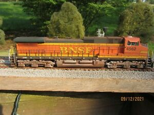 kato GE C44-9 ho scale locomotive, painted, decaled, weathered for BNSF