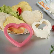 DIY Cookie Cutter Plastic Sandwich Toast Bread Mold Maker Love Heart Design Tool